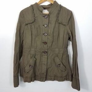 Hei Hei Anthropologie Olive Green Utility Jacket